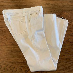 Rag & Bone White Cropped Jeans